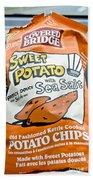 Sweet Potato Chips Beach Towel