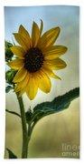 Sweet Summer Sunflower Beach Towel