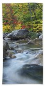 Swift River In Fall White Mountains New Beach Towel