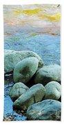 Swift River Rock Kancamagus Highway Nh Beach Towel