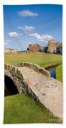 Swilcan Bridge On The 18th Hole At St Andrews Old Golf Course Scotland Beach Towel