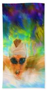 Swimming Fast Beach Towel by Lourry Legarde
