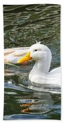 Swimming In The Pond Beach Towel
