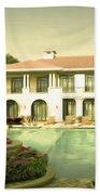 Swimming Pool In Luxury Hotel Beach Towel