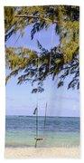 Swing Front Of The Ocean Beach Towel
