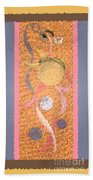 Swirl Body Bubble Person Dancing With Ribbons Twirling Beach Towel