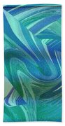 Swirling Abstract Beach Towel