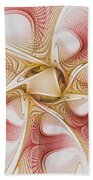 Swirls Of Red And Gold Beach Towel
