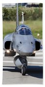 Swiss Air Force F-5e Tiger Recovering Beach Towel