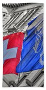 Swiss Flags  Beach Towel