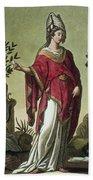 Sybil Of Eritrea With Her Insignia, 1796 Beach Towel