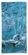 Sycamores And River Beach Towel