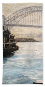 Sydney Ferry Wharves 1950's Beach Towel
