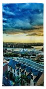 Sydney Harbor Sunrise Beach Towel