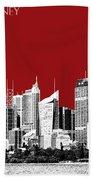 Sydney Skyline 1 - Dark Red Beach Towel