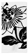 Symbol Passion Flower Beach Towel