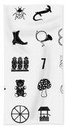Symbols Good Luck Beach Towel