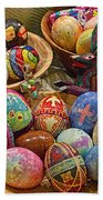 Symbols Of Easter- Spiritual And Secular Beach Towel by Gary Holmes