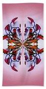Symmetrical Orchid Art - Reds Beach Towel