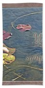 Sympathy Greeting Card - Autumn Lily Pads Beach Towel