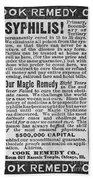 Syphilis Cure, 1890s Beach Towel
