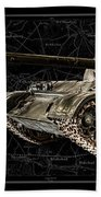 T-54 Soviet Tank Bk-bg Beach Towel