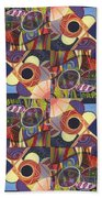 T J O D Tile Variations 10 Beach Towel