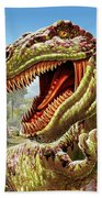 T-rex And Dinosaurs Beach Towel