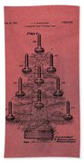 Table Christmas Tree Patent Red Beach Towel
