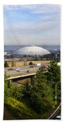 Tacoma Dome And Auto Museum Beach Towel