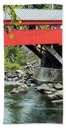 Taftsville Covered Bridge Vermont Beach Towel by Edward Fielding