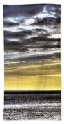 Big Clouds Over Tagus River Beach Towel