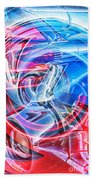 Tail Light Abstract Beach Towel