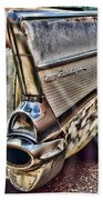 Taillight 1957 Chevy Bel Air Beach Towel