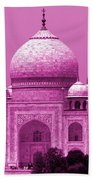 Pink Taj Mahal, Agra, India Beach Sheet