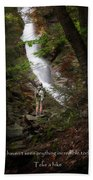Take A Hike Beach Towel by Bill Wakeley