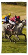 Taking Over - Del Mar Horse Race Beach Towel