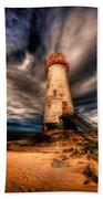Talacre Lighthouse Beach Towel by Adrian Evans