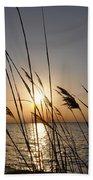Tall Grass Sunset Beach Towel