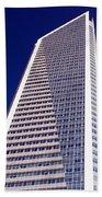 Tall Highrise Building Beach Towel