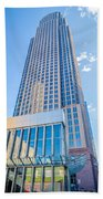 Tall Highrise Buildings In Uptown Charlotte Near Blumental Perfo Beach Towel