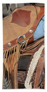 Tall In The Saddle II Beach Towel