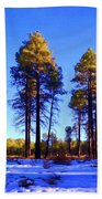 Tall Ponderosa Pine Beach Towel