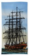 Tall Ship Beauty Beach Towel