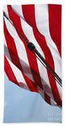 Tall Ship Flag Beach Towel