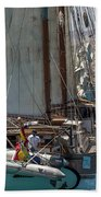 Tall Ship Isla Ebusitania  Beach Towel