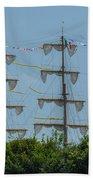 Tall Ship Mast Charleston  Beach Towel
