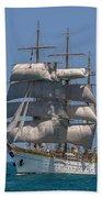 Tall Ship Mircea Beach Towel