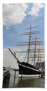 Tall Ship Mushulu At Penns Landing Beach Towel