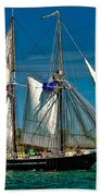 Tall Ship Beach Towel